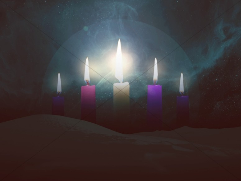 Advent Candles Church Wallpaper