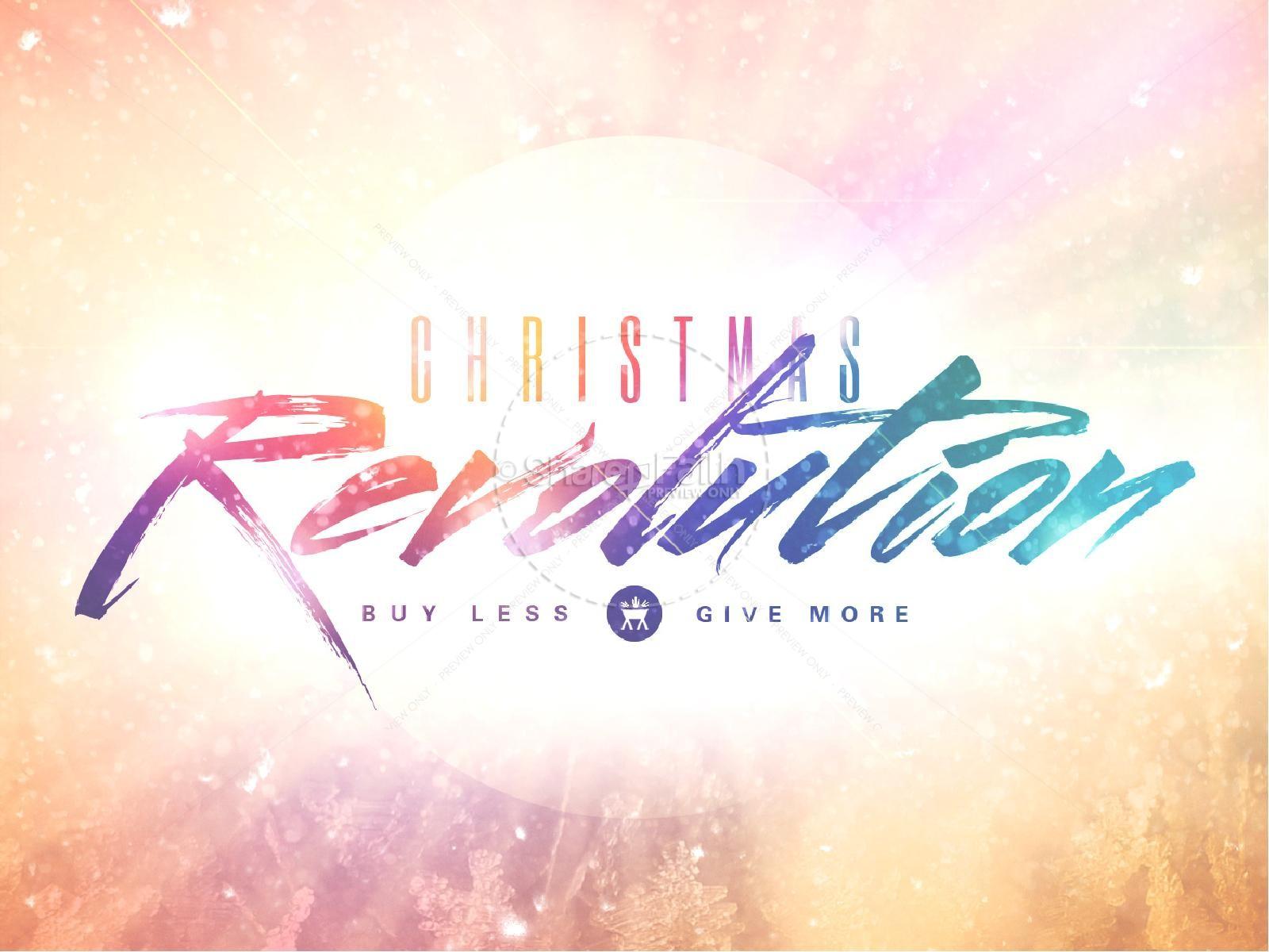 Christmas Revolution Ministry PowerPoint | slide 1