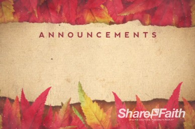 Come with Thanksgiving Announcements Ministry Video