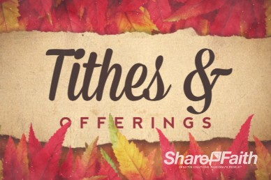 Come with Thanksgiving Tithes and Offerings Christian Video Loop