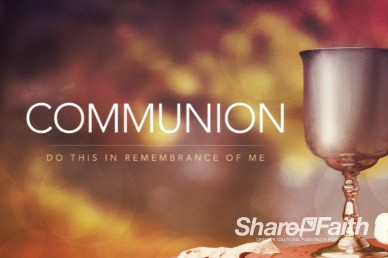 Communion Video Loop for Church with communion cup