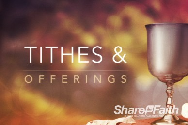 Tithes and Offerings Communion Cup and Bread Video Loop for Church