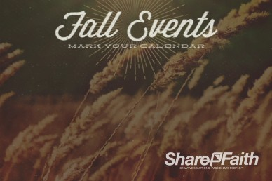 Fall Events Video Loop for Church