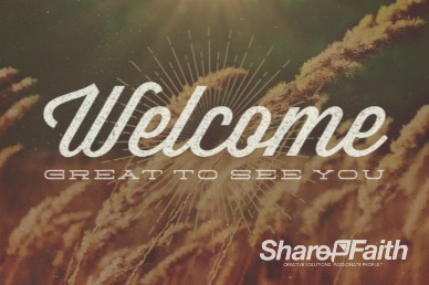 Fall Harvest Welcome Video Loop for Church and Autumn