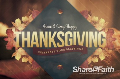 Happy Thanksgiving Video for fall and harvest