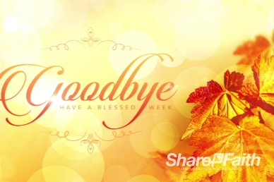 Thanksgiving Celebrate God's Goodness Ministry Motion Background Video