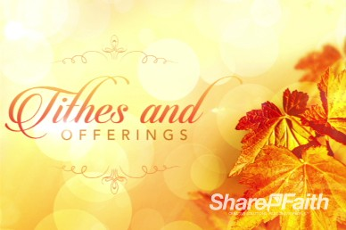 Thanksgiving Celebrate God's Goodness Church Service Video Loop