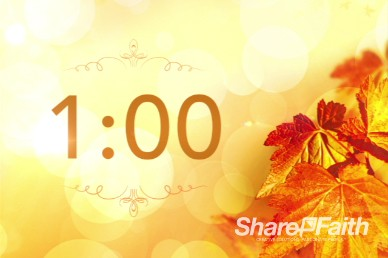 Thanksgiving Celebrate God's Goodness Religious One Minute Countdown Timer