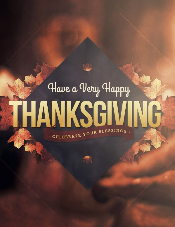 Happy Thanksgiving Holiday Religious Flyer