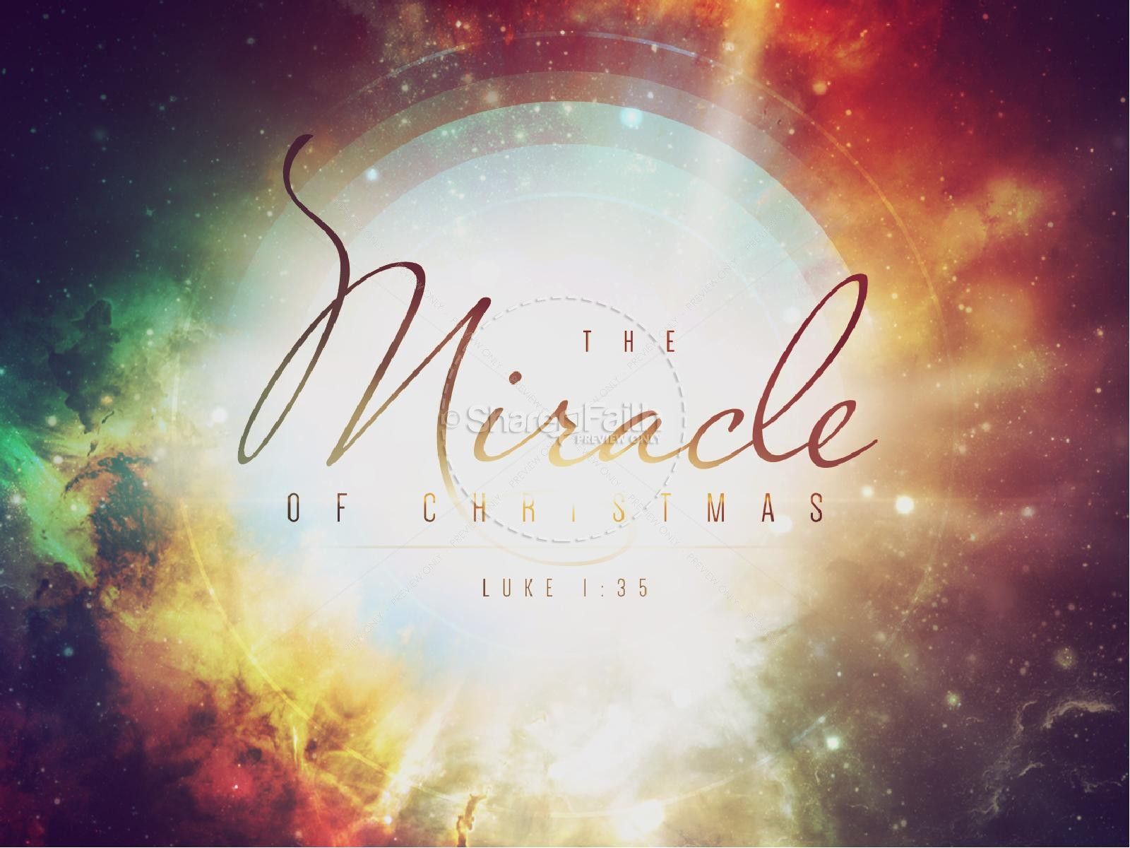 Miracle of Christmas Ministry PowerPoint