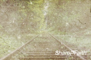 Double Exposed Train Tracks Worship Video Background