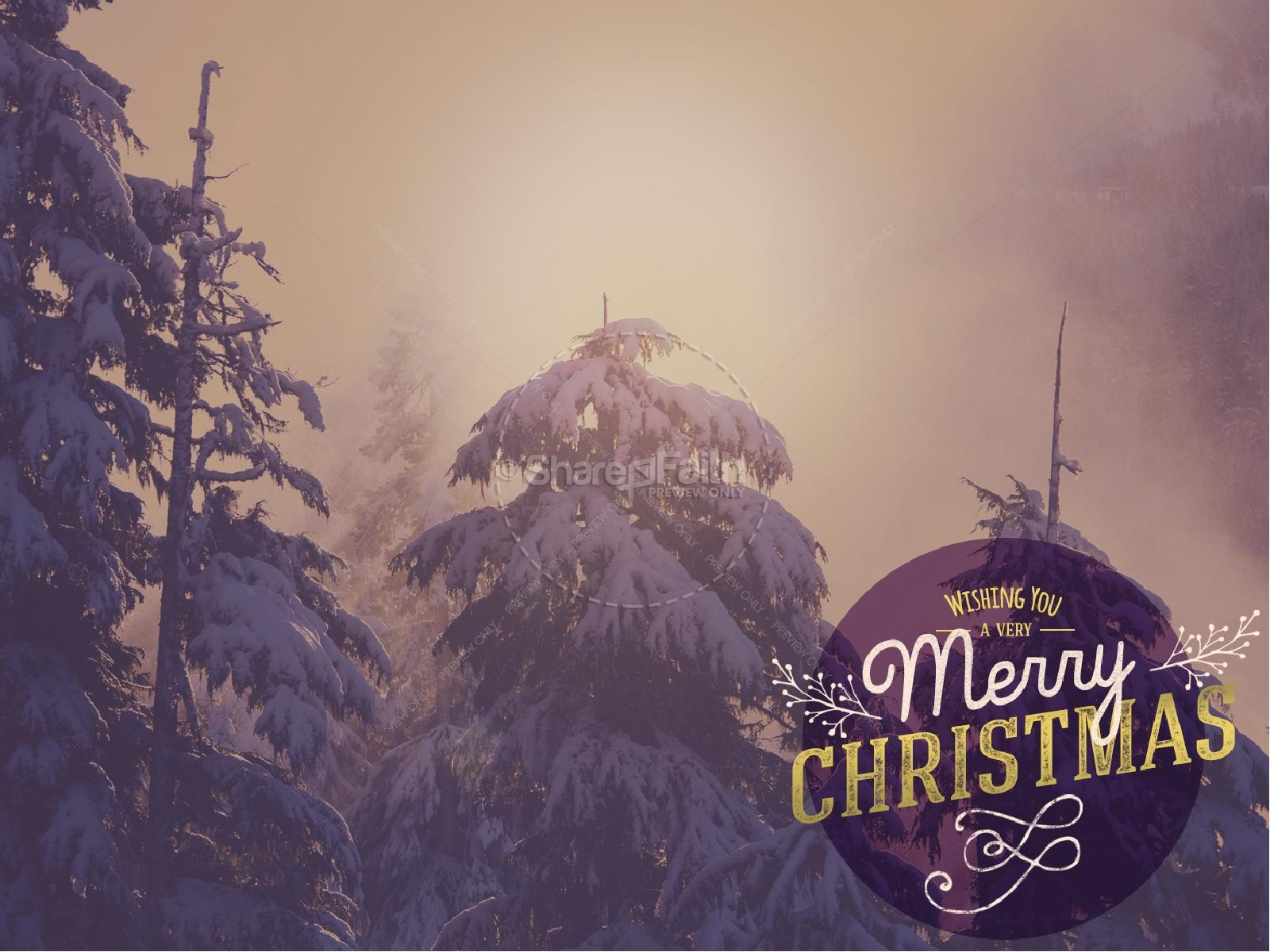 Wishing a Merry Christmas PowerPoint | slide 2