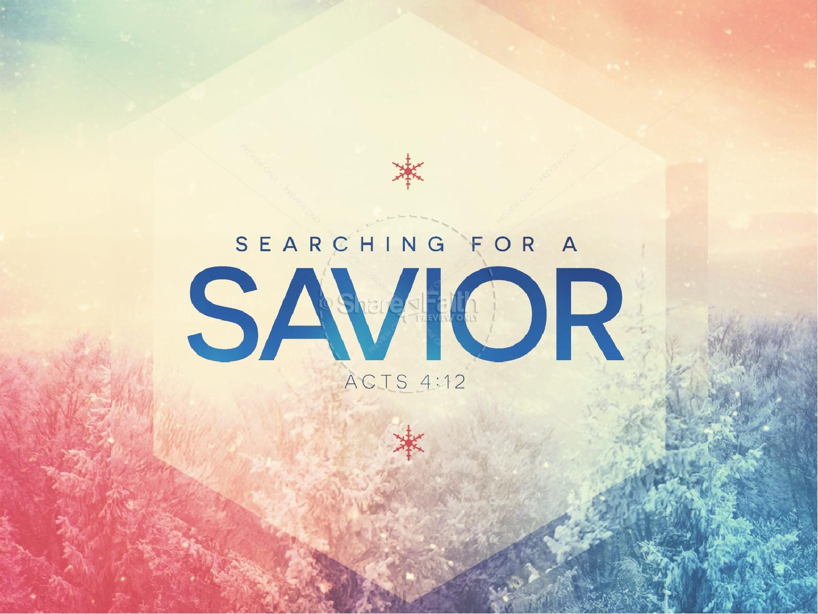 Searching for a Savior Christian PowerPoint