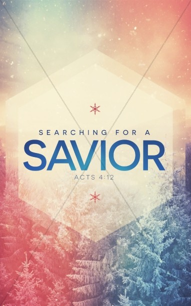 Searching for a Savior Christian Bulletin