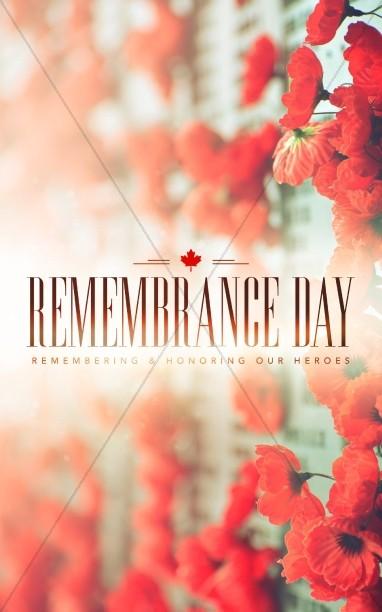 Remembrance Day Church Bulletin