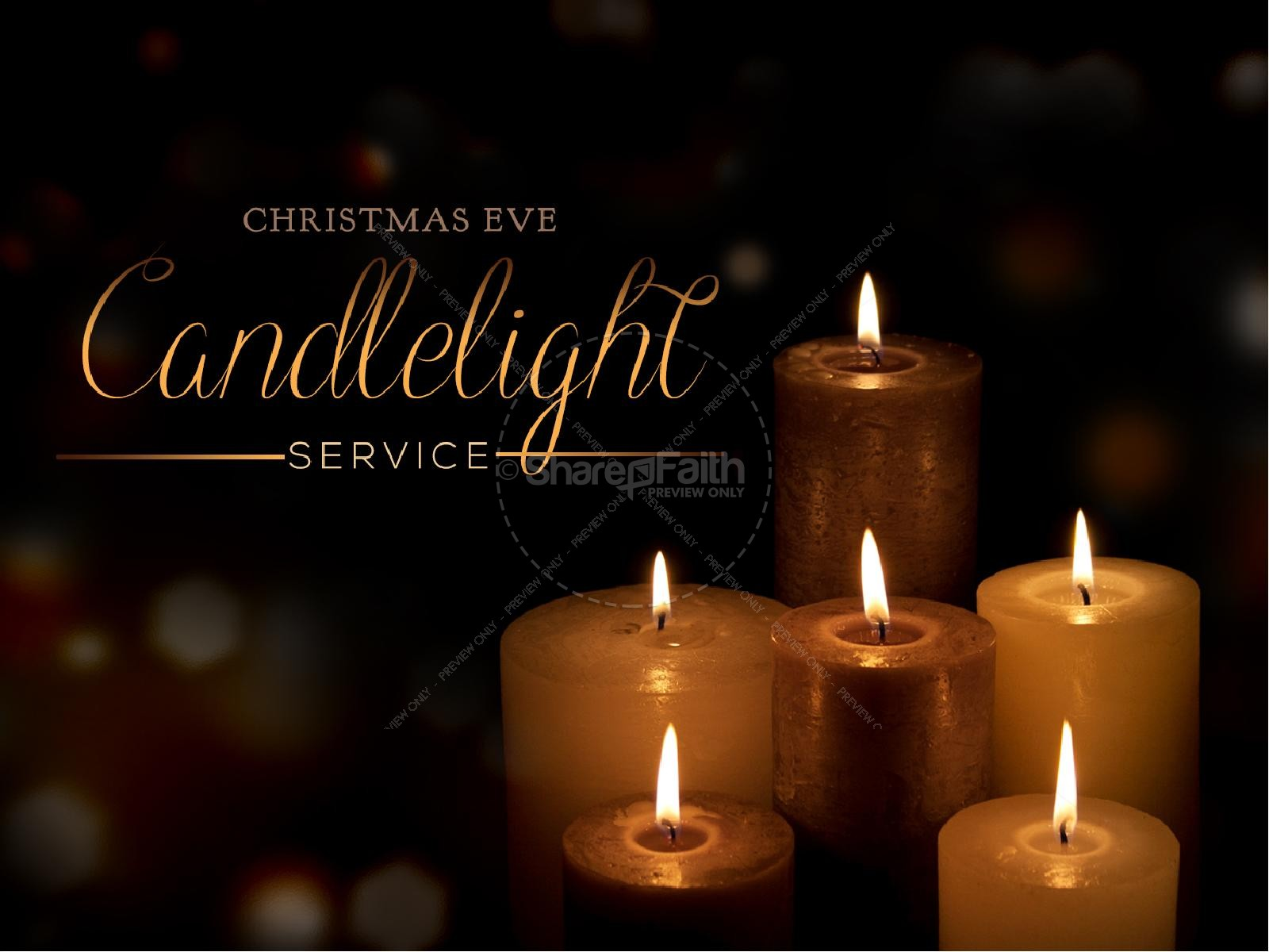 Candlelight Service Religious PowerPoint | Christmas PowerPoints