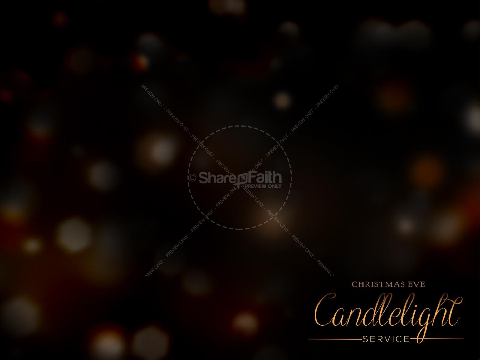 Candlelight Service Religious PowerPoint | slide 2