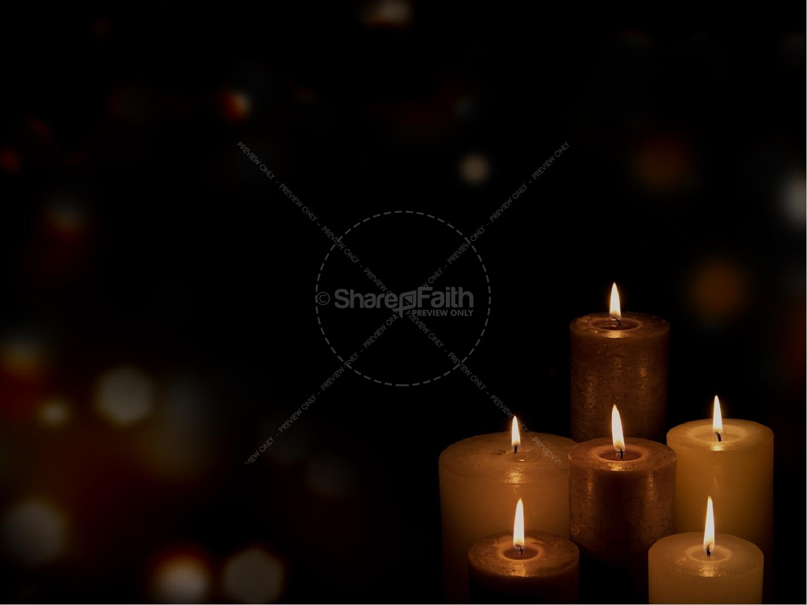 Candlelight Service Religious PowerPoint | slide 3