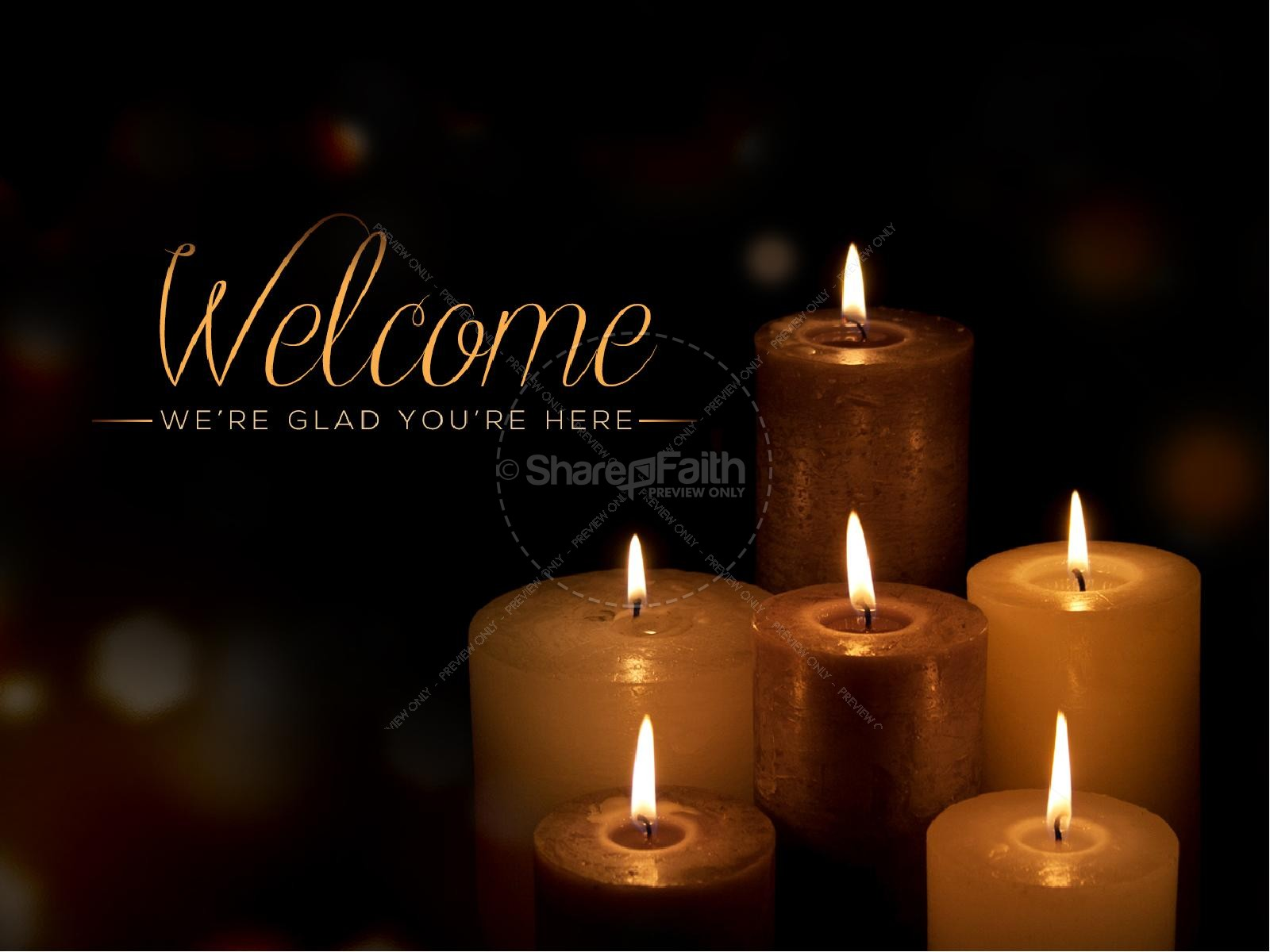 Candlelight Service Religious PowerPoint | slide 4