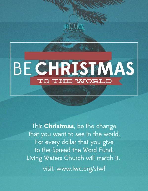 Be Christmas Church Flyer