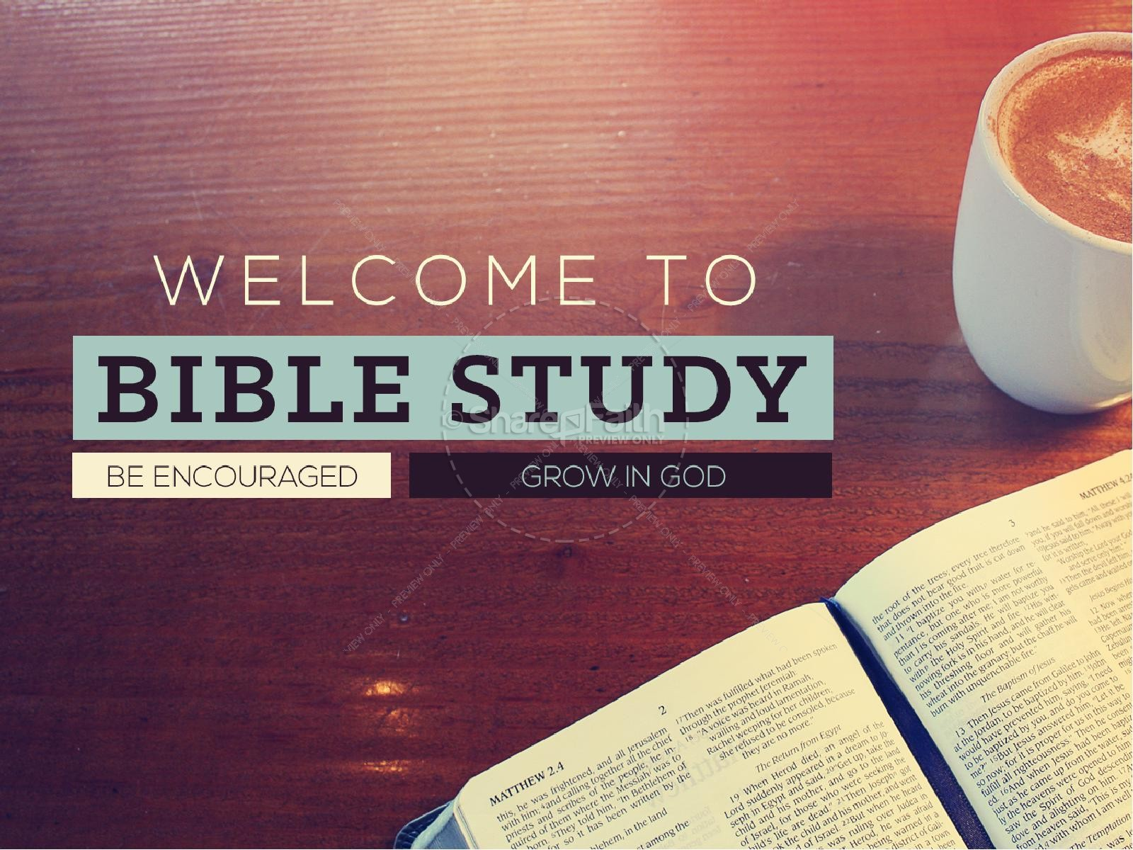 Bible Study PowerPoint Templates w/ Bible Study-Themed ...