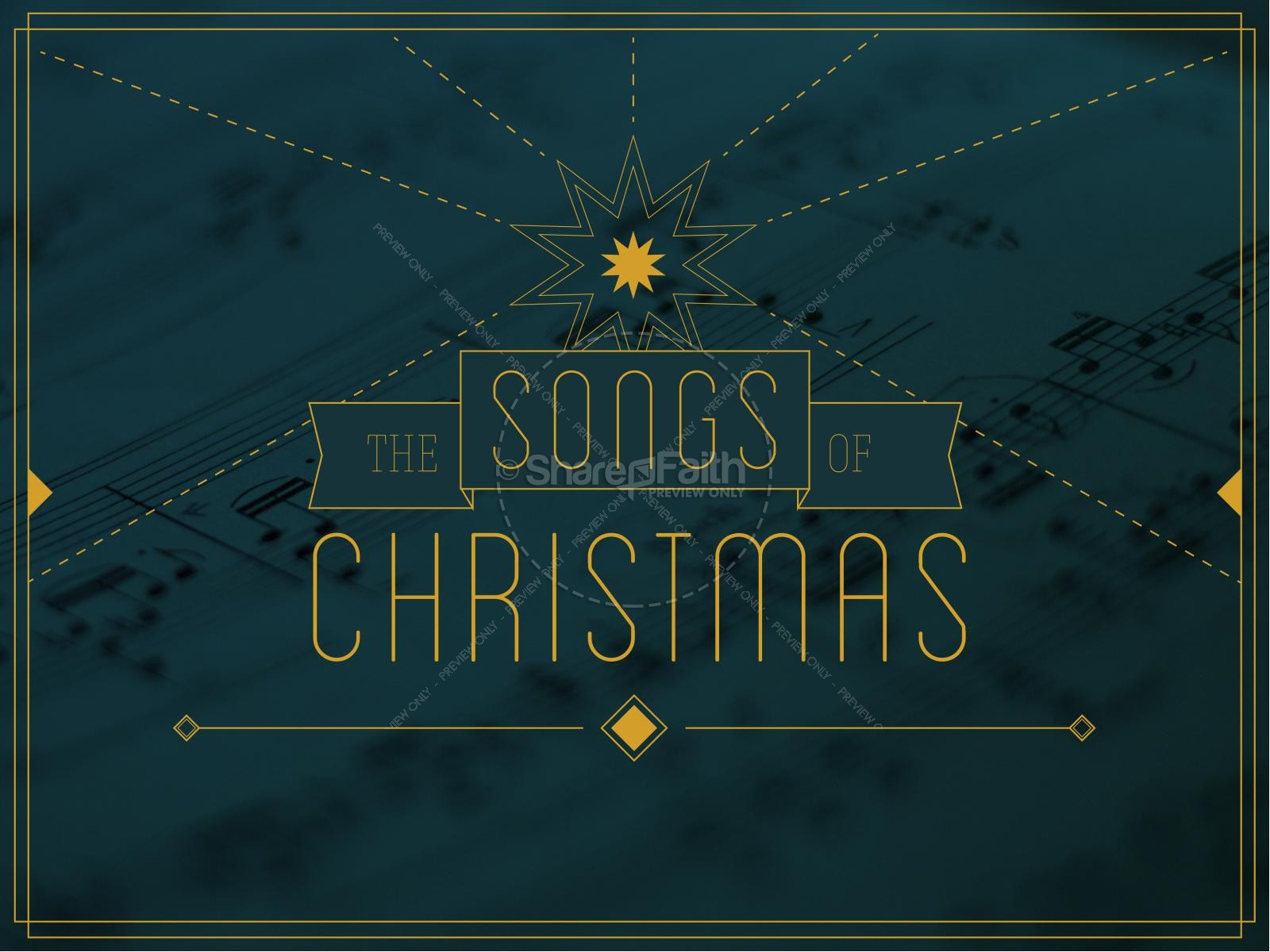 Songs of Christmas Ministry PowerPoint | slide 1