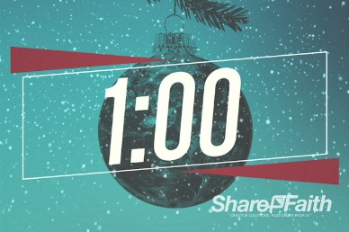 Be Christmas Church One Minute Countdown Timer