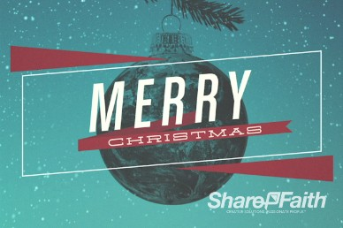 Be Christmas Church Welcome Video Loop