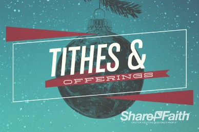 Be Christmas Church Tithes and Offerings Video Loop