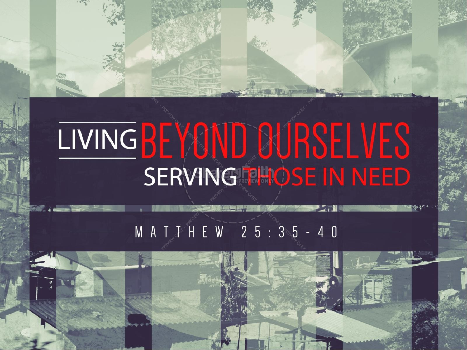 Living Beyond Ourselves Church Powerpoint | slide 1