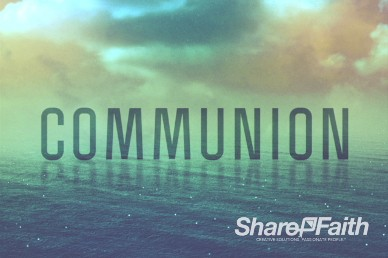 Following Jesus Christian Communion Background Video