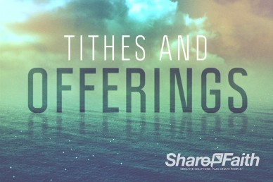 Following Jesus Church Tithes and Offerings Motion Background