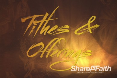 Glory in the Highest Religious Tithes and Offerings Video Background