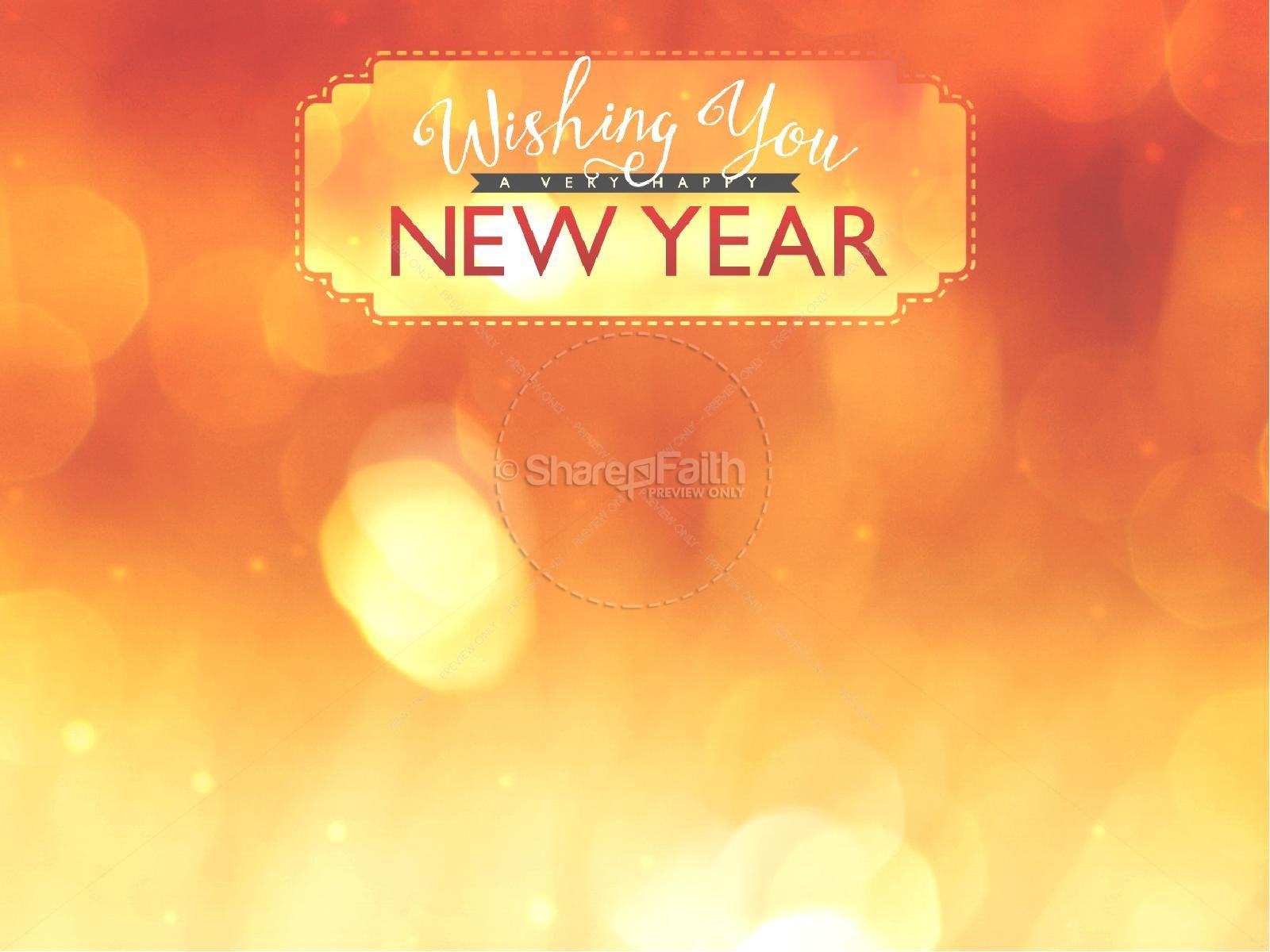 Happy New Year Orange 100
