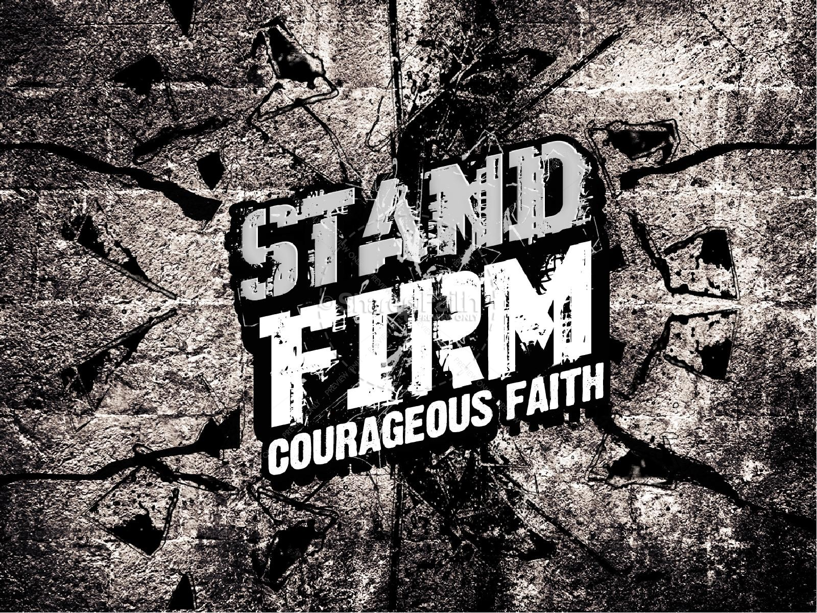 Stand Firm Religious PowerPoint | slide 1