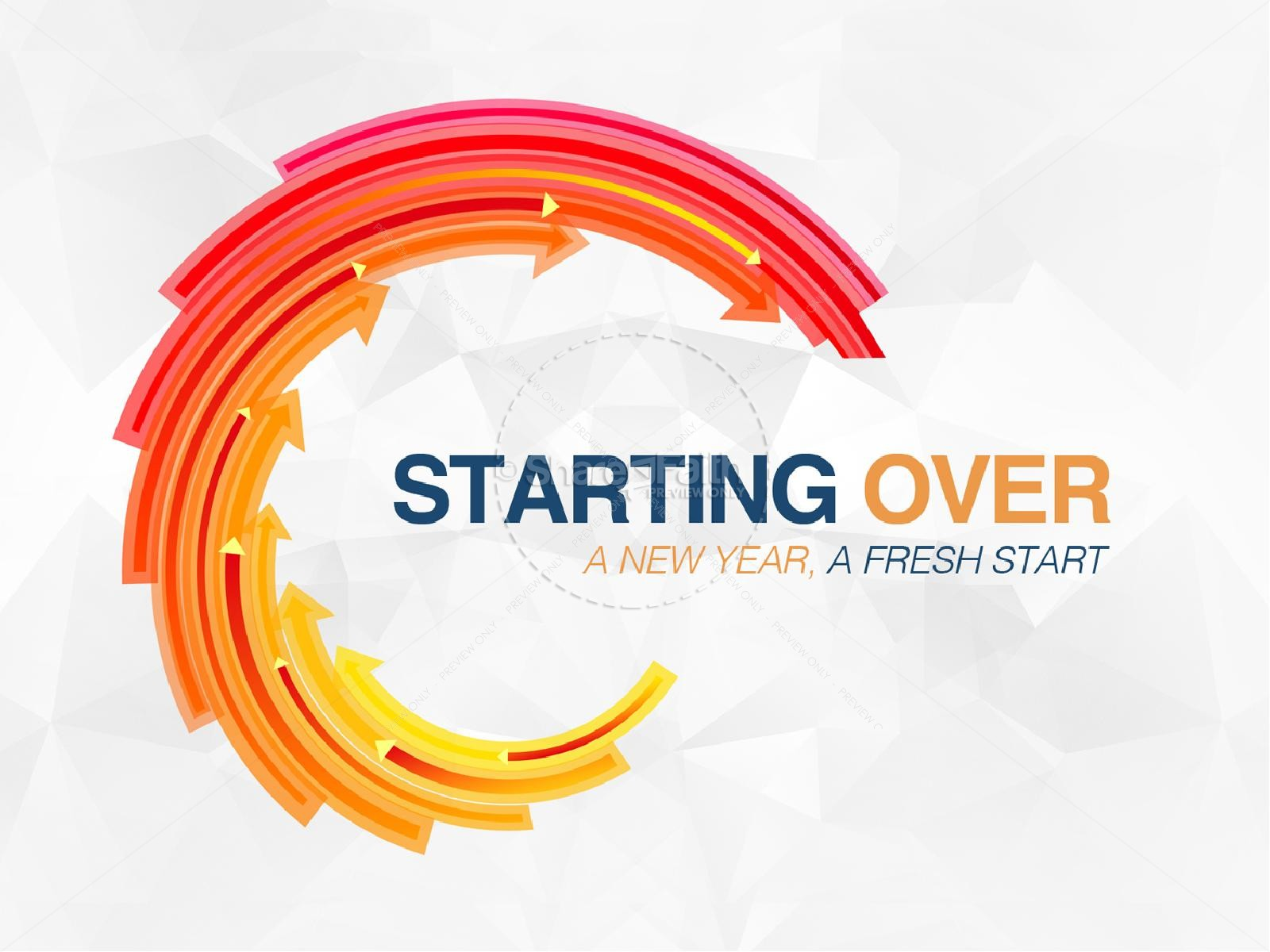 Starting Over New Year Religious PowerPoint
