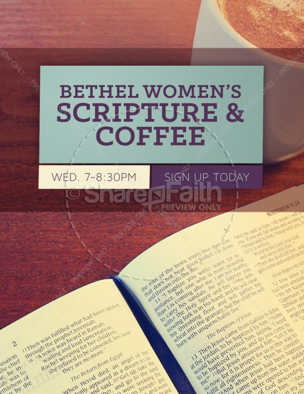women 39 s bible study church flyer. Black Bedroom Furniture Sets. Home Design Ideas