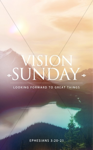 Vision Sunday Christian Bulletin
