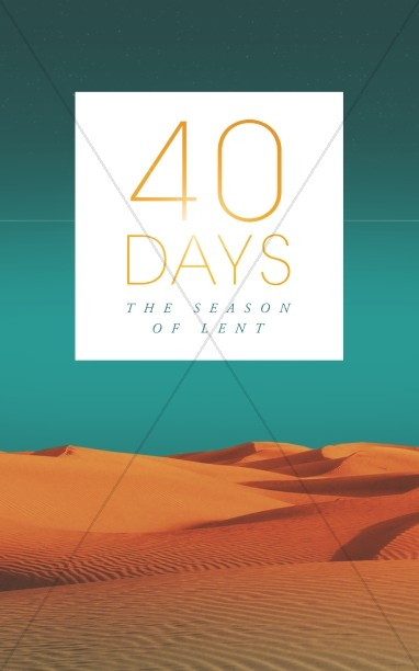 Forty Days of Lent Religious Church Bulletin