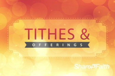 Wishing a Happy New Year Ministry Tithes and Offerings Background Video