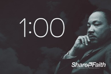 Martin Luther King Jr Day Church One Minute Countdown Timer