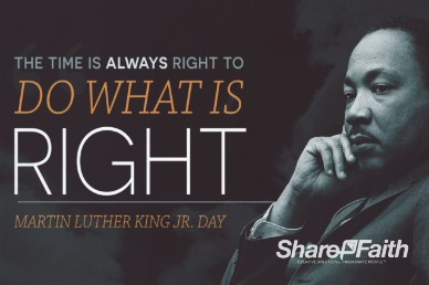 Martin Luther King Jr Day Church Service Video Loop
