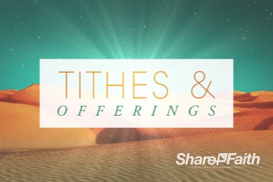 Forty Days of Lent Religious Tithes and Offerings Video Background