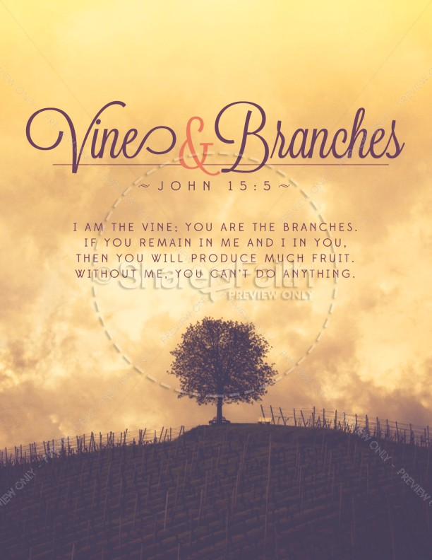 Vine and Branches Religious Flyer