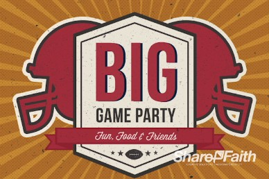 Big Game Party Ministry Welcome Video Loop