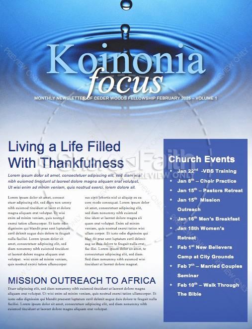 The Ripple Effect Christian Newsletter