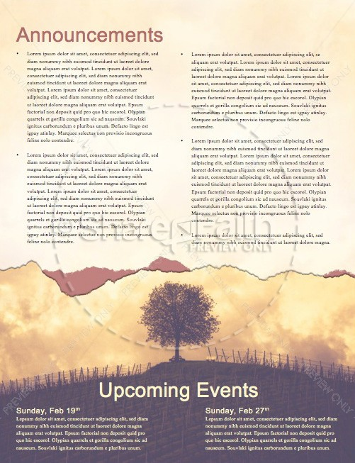 Vine and Branches Religious Newsletter