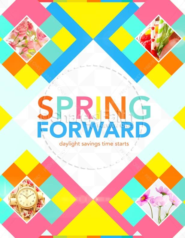 Spring Forward Church Flyer