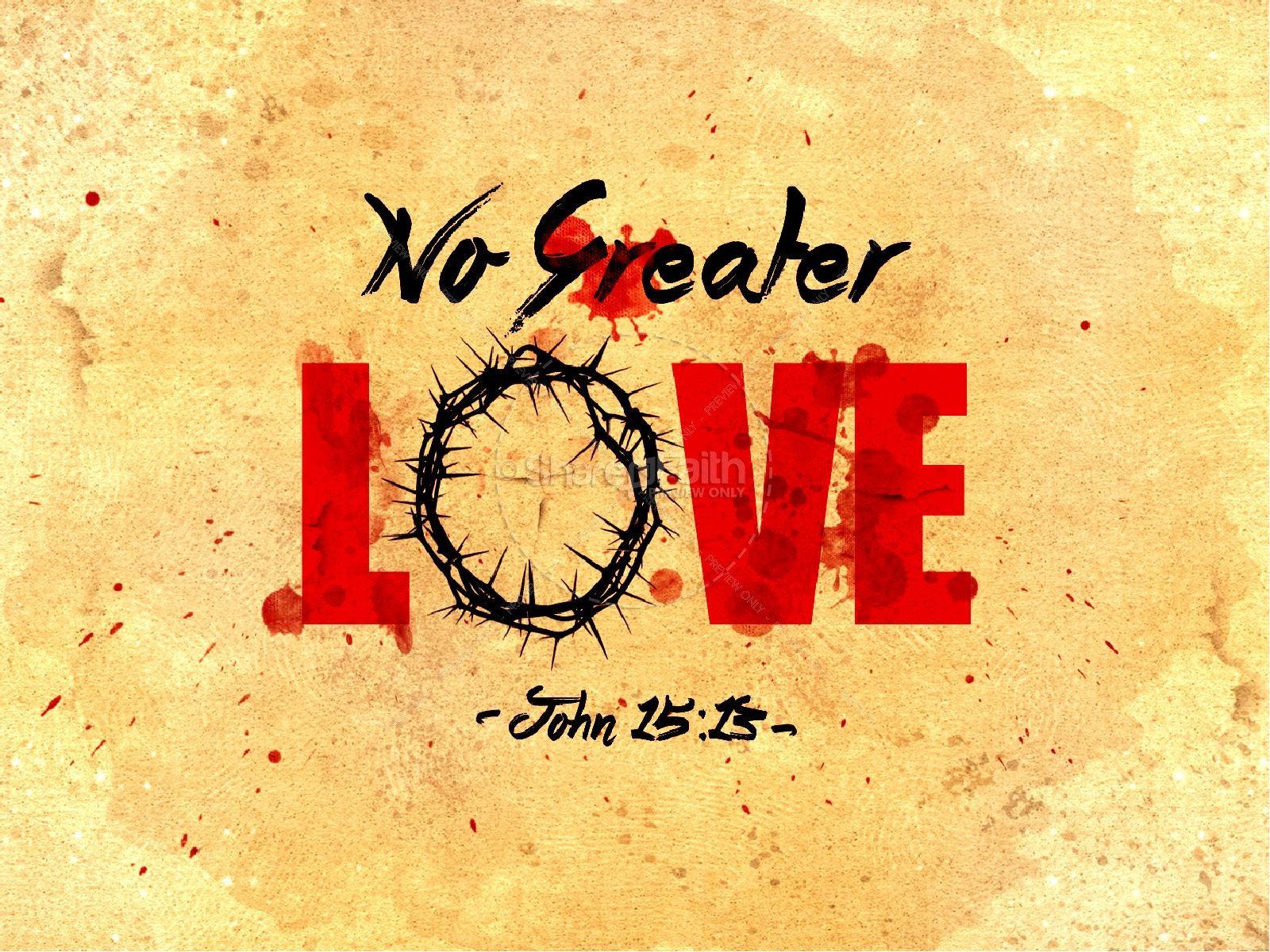 No greater love church powerpoint template powerpoint sermons no greater love church powerpoint template toneelgroepblik Gallery
