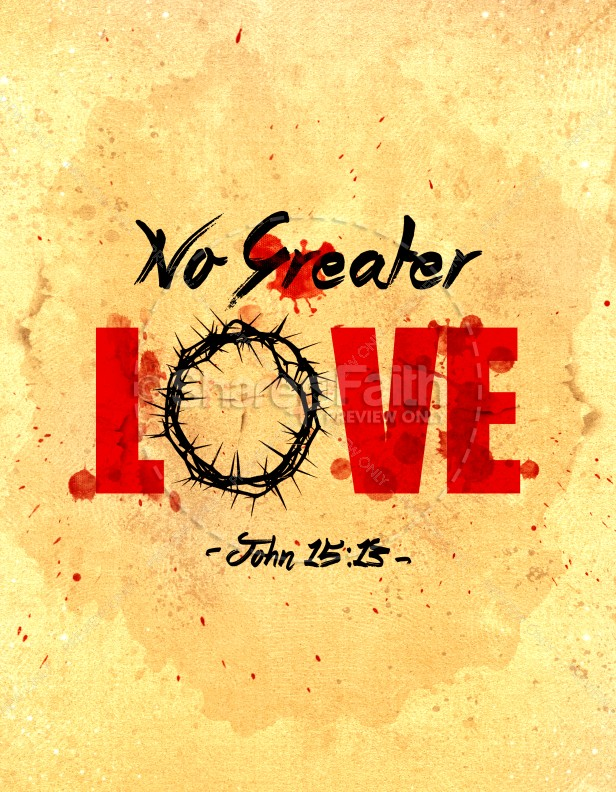 No Greater Love Church Flyer